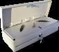 Pokladní zásuvka flip-top FT-460V4 - bez kabelu, se zam. krytem, bílá - 2/6
