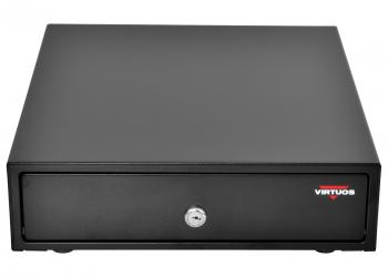 Pokladní zásuvka mikro EK-300C s kabelem, pořadač 3/4, 9-24V, černá  - 2