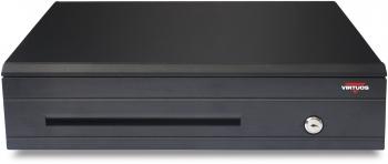 Pokladní zásuvka C425C - s kabelem, kovové držáky, 9-24V, černá  - 2