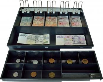 Plastový pořadač na peníze pro C425, kovové držáky bankovek  - 2