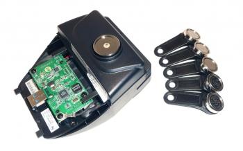 Čtečka magnetických karet 1/2/3 stopy a iButtonů pro Aer + 5 klíčů  - 2