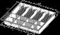 Náhradní plastový pořadač na peníze 4/8 pro zásuvku S-410 - 2/2