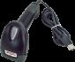 Laserová čtečka Virtuos HT-900A, USB, stojánek, černá - 3/5