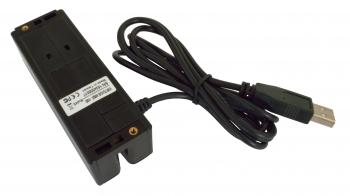 Třístopá čtečka magnet. karet VIRTUOS MSR-100, USB, černá  - 3