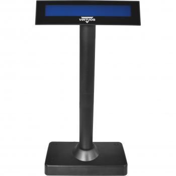 Oboustranný LCD zákaz. displej Virtuos FL-730MB 2x20, serial, černý  - 3