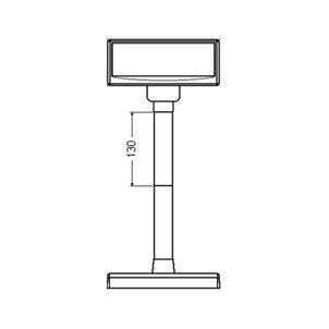 Plastová noha 130 mm pro LCD a VFD displeje Virtuos, 1ks, černá  - 3