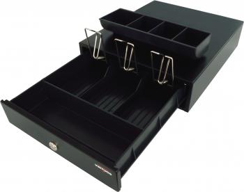 Pokladní zásuvka mikro EK-300V bez kab., pořadač 3/4, 9-24V, černá  - 3