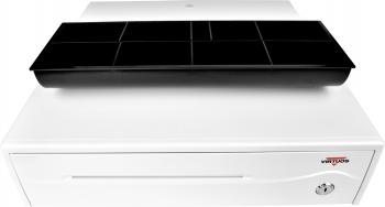 Pokladní zásuvka C420B - bez kabelu, 9-24V, jasně bílá  - 3
