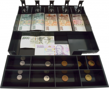 Plastový pořadač na peníze pro C410/C420/C430, plastové držáky bankovek  - 3