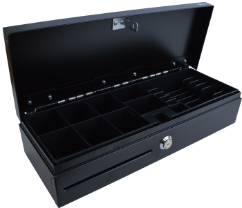 Pokladní zásuvka flip-top FT-460V-RJ10P10C, bez kabelu, se zam. krytem, černá  - 3