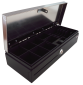 Pokladní zásuvka flip-top FT-460V2 - bez kabelu, se zam. krytem, NEREZ víko, černá - 3/4