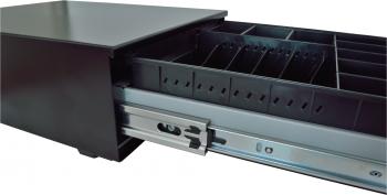 Pokladní zásuvka SK-325C - s kabelem, pořadač 6/8, 9-24V, černá  - 3