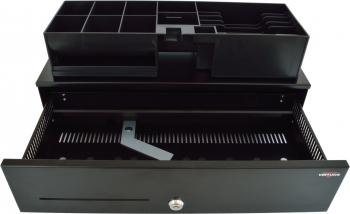 Pokladní zásuvka SK-500C - s kabelem, pořadač 6/8, 9-24V, černá  - 3