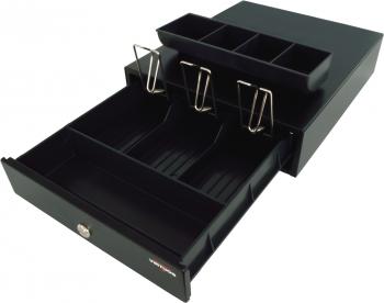Pokladní zásuvka mikro EK-300C s kabelem, pořadač 3/4, 9-24V, černá  - 3