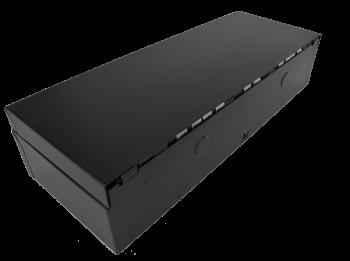 Pokladní zásuvka flip-top FT-460V1 bez kabelu, bez zam. krytu, černá  - 3