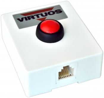 Tlačítko pro otvírání pokladních zásuvek, plastové bez kabelu  - 3