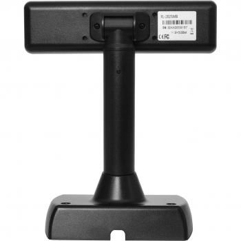 LCD zákaznický displej Virtuos FL-2025MB 2x20, USB, černý  - 3