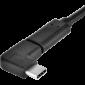 Redukce PremiumCord USB 3.1 C/male - C/female zahnutý konektor 90° - 3/4