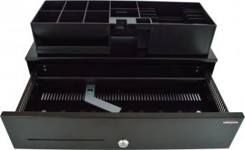 Pokladní zásuvka SK-500-RJ10P10C, 9-24V, bez kabelu, pořadač 6/8, černá  - 3