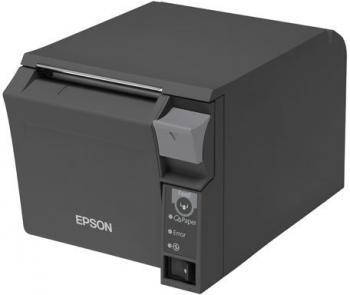 Tiskárna EPSON TM-T70II, USB + serial (RS-232), tmavě šedá  - 4