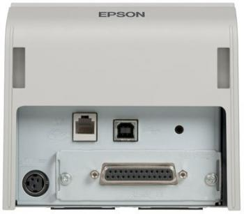 Tiskárna EPSON TM-T70II, USB + serial (RS-232), světle šedá  - 4