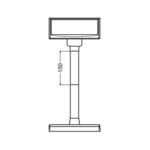 Plastová noha 150 mm pro LCD a VFD displeje Virtuos, 1ks, černá  - 4