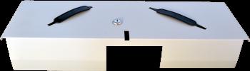 Pokladní zásuvka flip-top FT-460V4 - bez kabelu, se zam. krytem, bílá  - 4