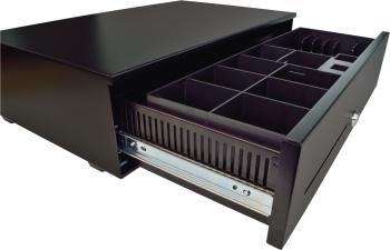 Pokladní zásuvka SK-500C - s kabelem, pořadač 6/8, 9-24V, černá  - 4