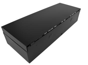 Pokladní zásuvka flip-top FT-460V-RJ10P10C, bez kabelu, se zam. krytem, černá  - 4