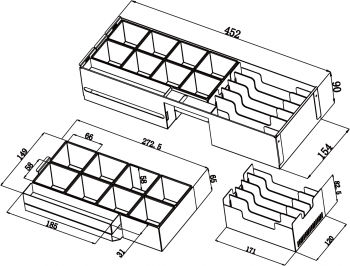 Kovový pořadač s výměnnými mincovníky 6/8 pro FT-460xx, SK-500(B)  - 4