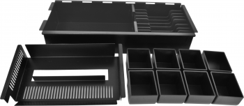 Pokladní zásuvka SK-500B-RJ10P10C, bez kabelu, pořadač 8/8, černá  - 4