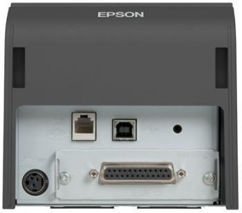 Tiskárna EPSON TM-T70II, USB + serial (RS-232), tmavě šedá  - 5