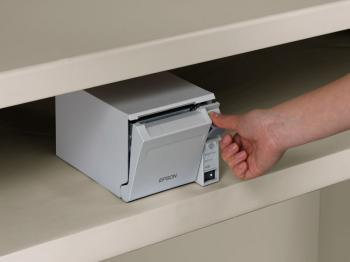 Tiskárna EPSON TM-T70II, USB + serial (RS-232), světle šedá  - 5