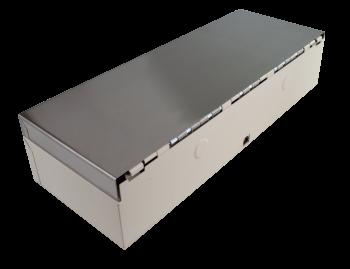 Pokladní zásuvka flip-top FT-460V3 - bez kabelu, se zam. krytem, NEREZ víko, bílá  - 5