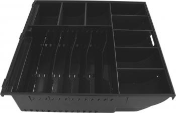 Pokladní zásuvka SK-325C - s kabelem, pořadač 6/8, 9-24V, černá  - 5