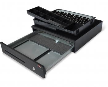 Pokladní zásuvka C425 - bez kabelu, kovové držáky, 5-9V, černá  - 5