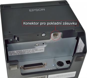 Tiskárna EPSON TM-T20II, řezačka, USB + serial (RS-232), tmavá  - 5