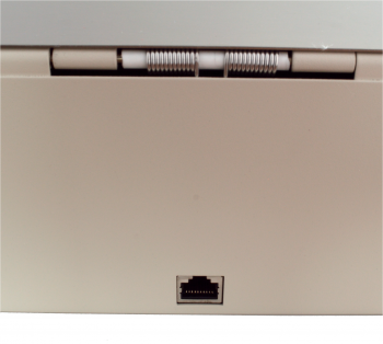 Flip-top FT-460C3 - s kabelem, se zamykacím krytem, NEREZ víko, bílá  - 6
