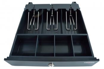 Pokladní zásuvka mikro EK-300C s kabelem, pořadač 3/4, 9-24V, černá  - 6