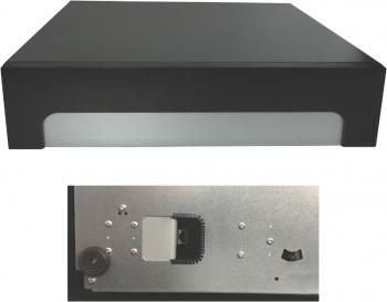 Pokladní zásuvka C425 - bez kabelu, kovové držáky, 5-9V, černá  - 6