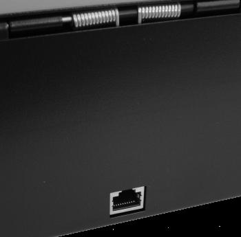 Pokladní zásuvka flip-top FT-460V-RJ10P10C, bez kabelu, se zam. krytem, černá  - 6