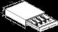 Pokladní zásuvka S-410 - s kabelem, pořadač 4/8, 24V, matná černá - 6/7