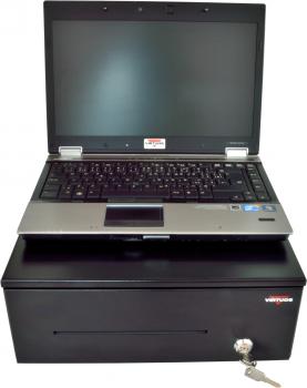 Pokladní zásuvka SK-325C - s kabelem, pořadač 6/8, 9-24V, černá  - 7