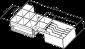 Pokladní zásuvka SK-500C - s kabelem, pořadač 6/8, 9-24V, černá - 7/7