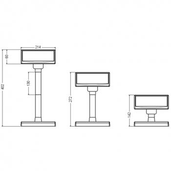 VFD zákaznický displej Virtuos FV-2030W 2x20 9mm, USB, bílý  - 7