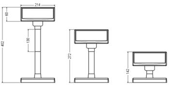 VFD zákaznic. displej Virtuos FV-2030B 2x20 9mm, serial, černý  - 7